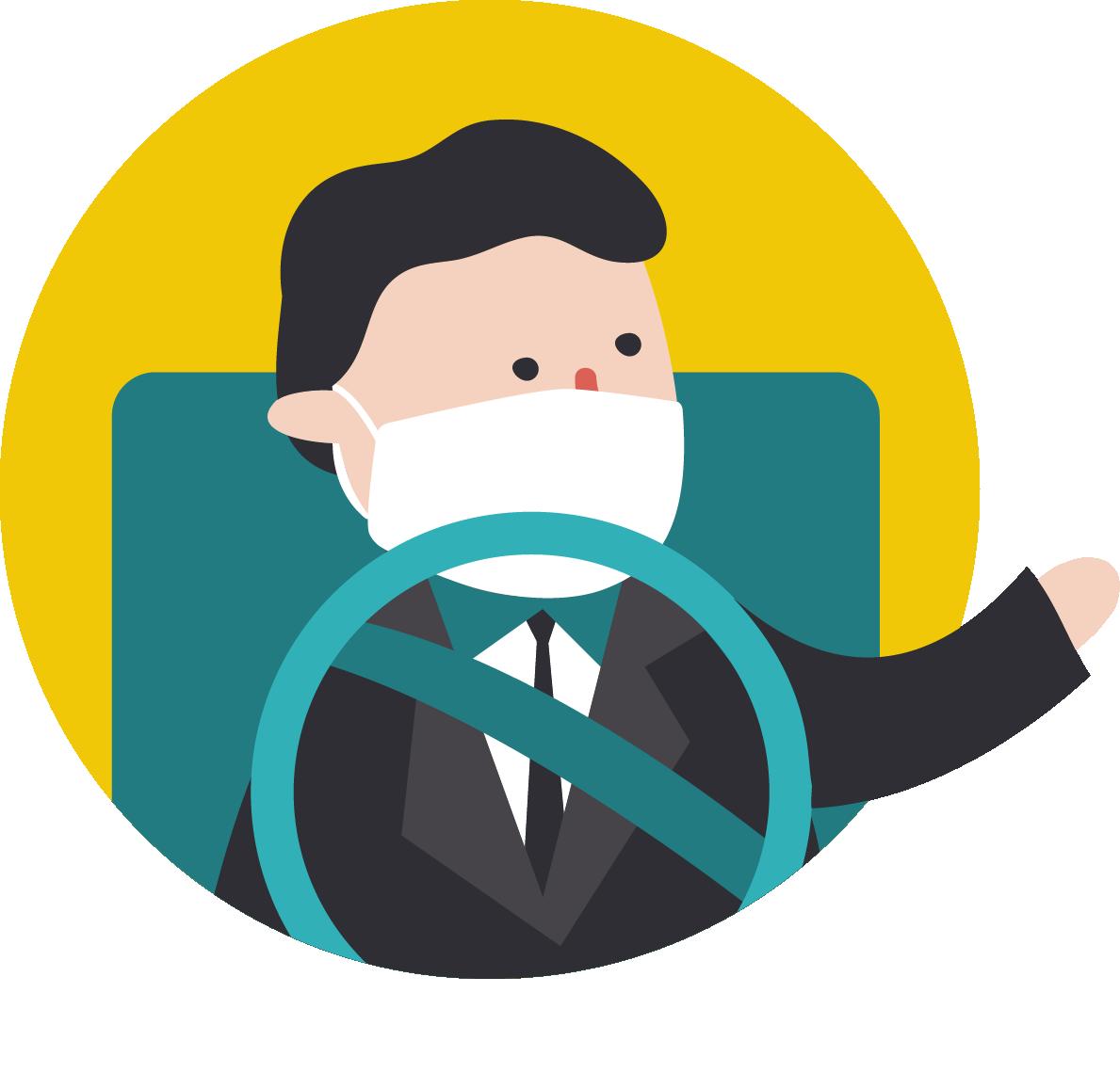 防疫四大護法:叫車吧駕駛服務全程都戴口罩
