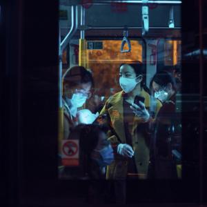 公車戴口罩