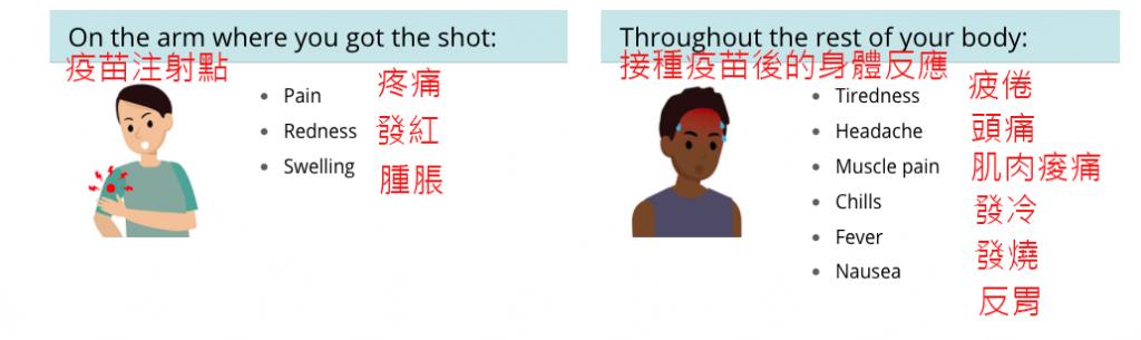 疫苗接種副作用