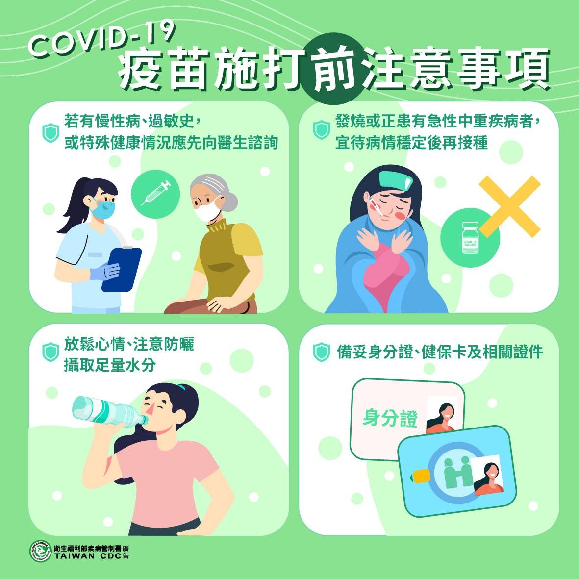打疫苗前注意事項