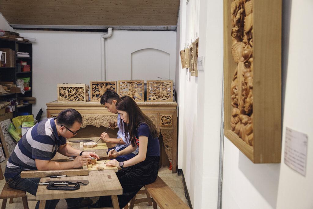 以木雕刻室